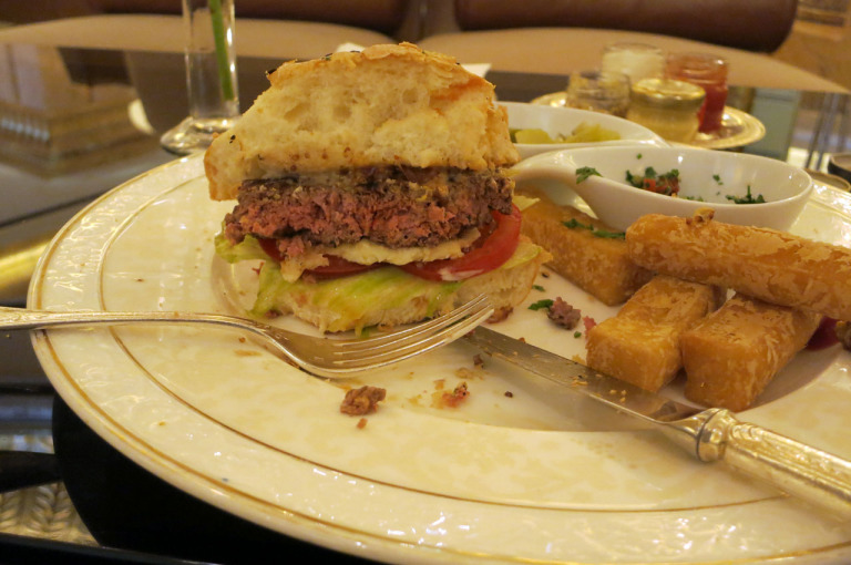 Camel burger at Emirates Palace