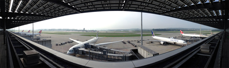180 degree panorama to the airfield