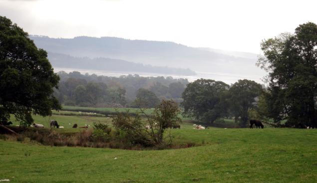 Splendid view over Shantron Farm