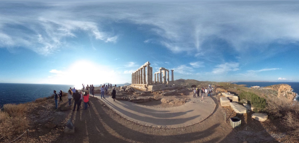 360 degree panorama of Poseidon's Temple