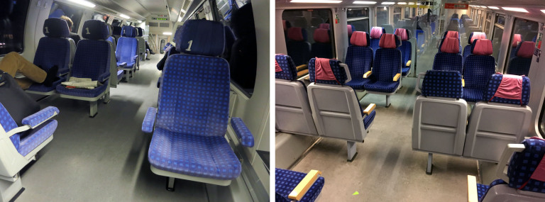 First class in a Regional Express train of Deutsche Bahn
